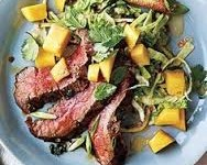 Steak Salad with Garlic Mango Dressing