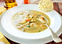 Chicken or Turkey Soup with Biscuits