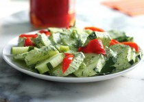 Cucumber and Dill Salad / Garlic & Dill Dressing