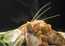 Featured Chef Recipe – Lake Huron Whitefish & Roasted Garlic Tomato Parcels