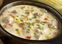 Corn Chowder with Turkey Sausage & Garlic & Cilantro Corn Fiesta Seasoning
