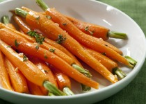 Cranberry Garlic Rum Carrots