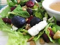 Green Salad with Gingered Apple Cider & Garlic Vinaigrette