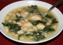 Roasted Garlic & Spinach White Bean Soup