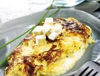 Halloumi Omelette with Garlic Scape Sea Salt