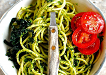 Light Lemon Garlic Pesto Pasta