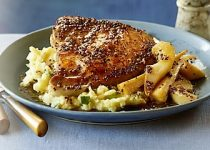 Pork Chops with Pears and Parsnips