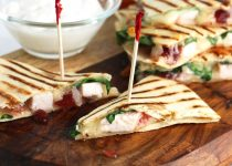Turkey & Cranberry Quesadilla Appetizers