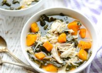 Slow Cooker Chicken, Kale and Sweet Potato Soup