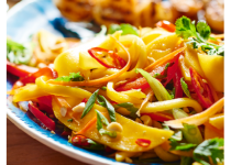 Garlic Mango Pepper Salad