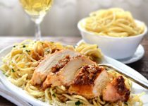 Roasted Garlic Oil Spaghetti and Chicken