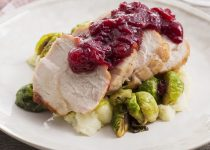 Turkey Roast Dinner with Cranberry Sauce