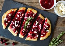 Cranberry & Goats Cheese Flatbread