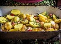 Zesty Lemon Garlic Herb Roasted Potatoes
